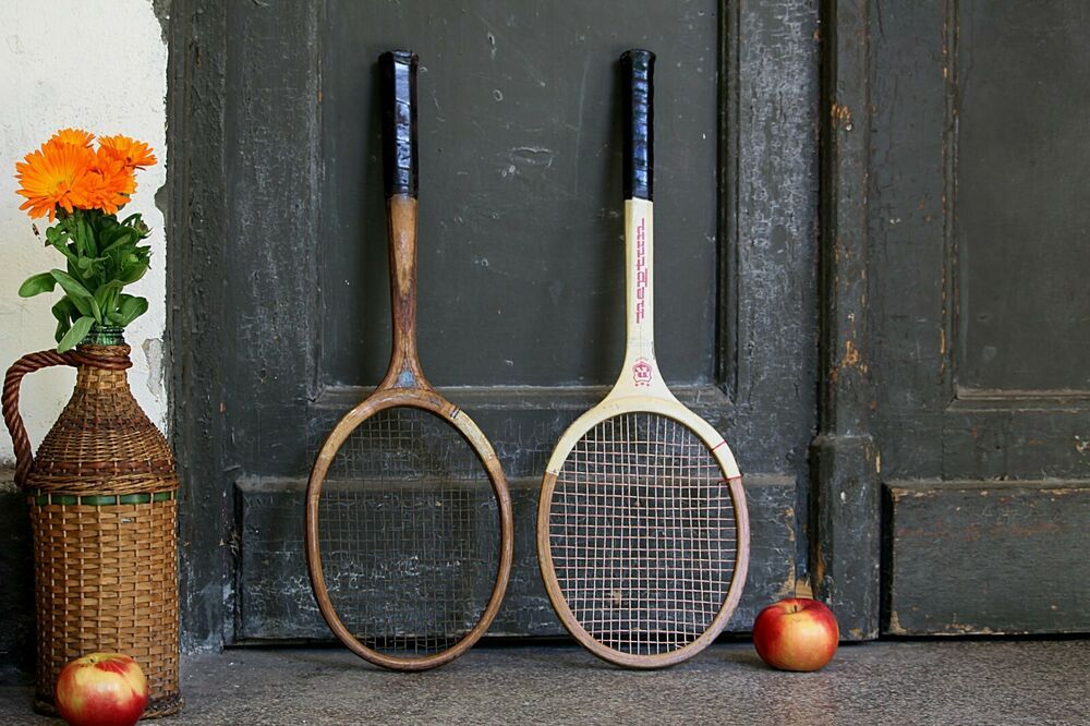 Advertisementebay Vintage Tennis Racket For Sale Two Wooden Rare