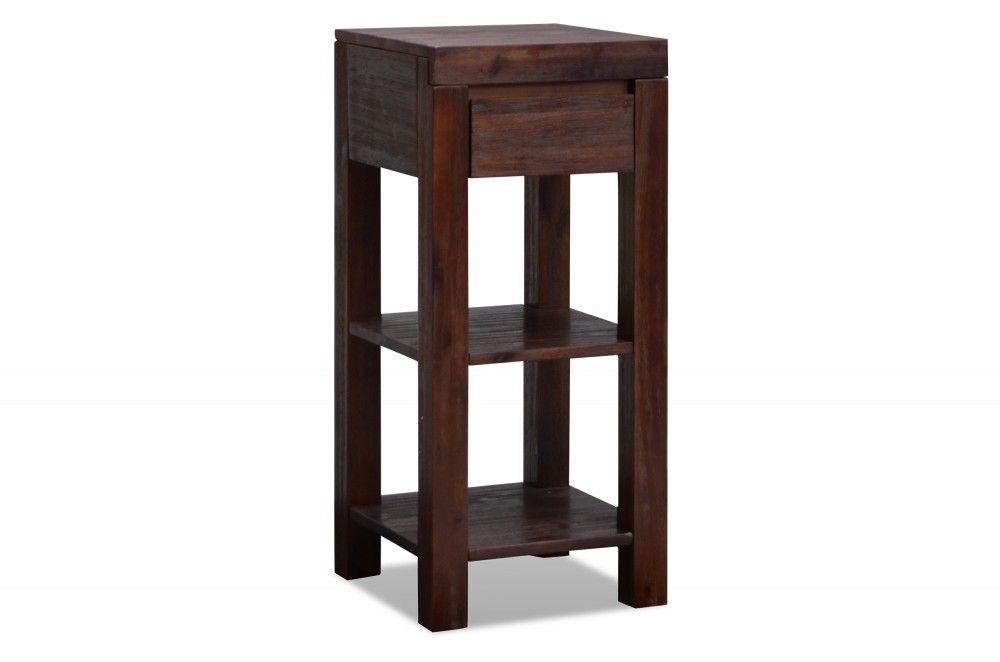 blumenst nder tecky akazie massiv dunkelbraun gebeizt gewachst akazien holz m bel. Black Bedroom Furniture Sets. Home Design Ideas