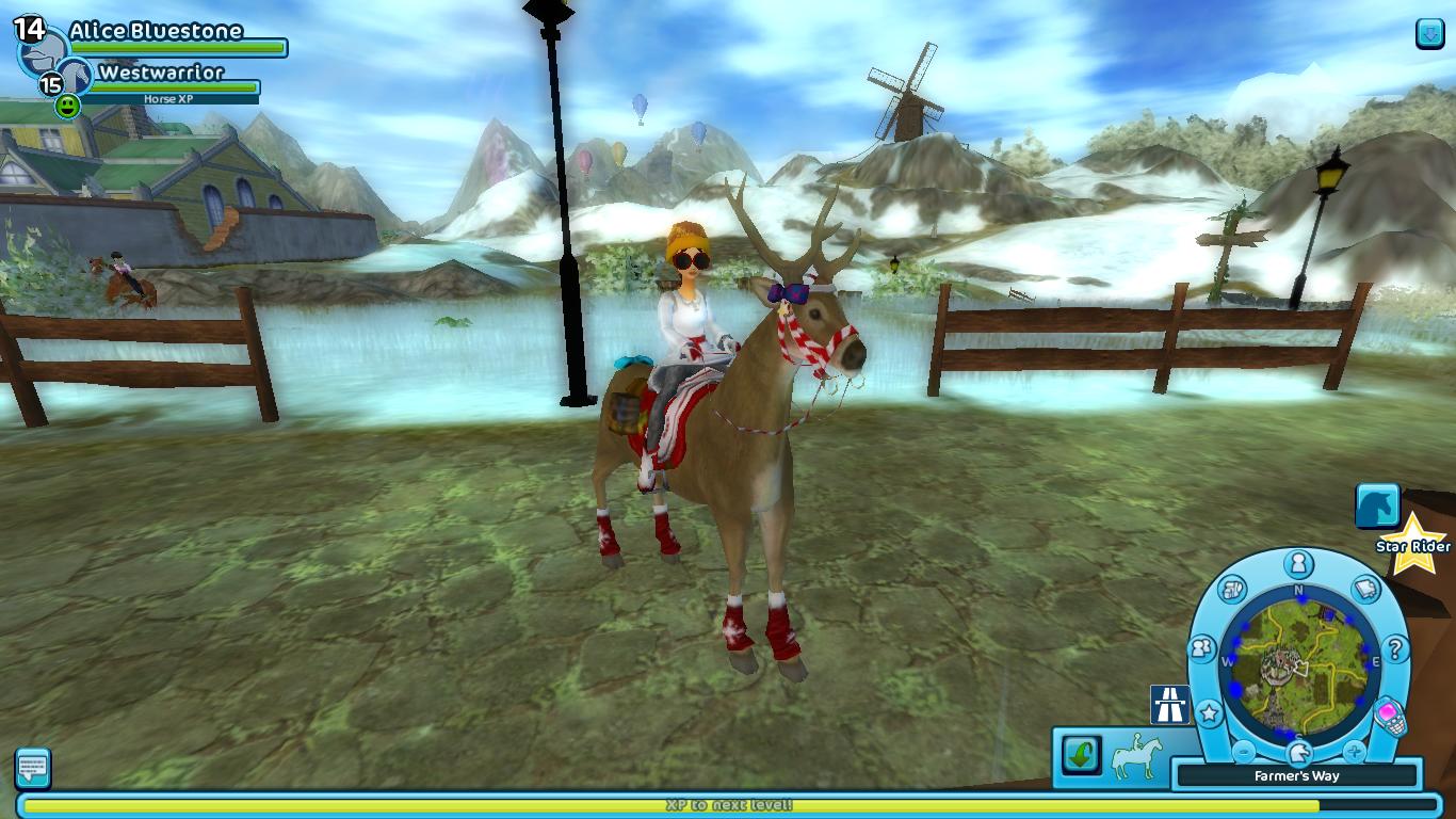 Reindeer in Star Stable. (The reindeer is actually West