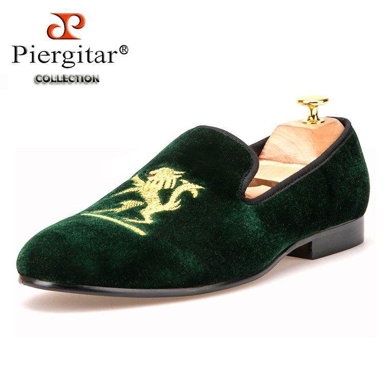 d9489d08607b Lion embroidery Velvet Men shoes Men Plus Size handmade Loafers Men banquet  and prom Shoe Men Flats Size US 4-17 Free shipping