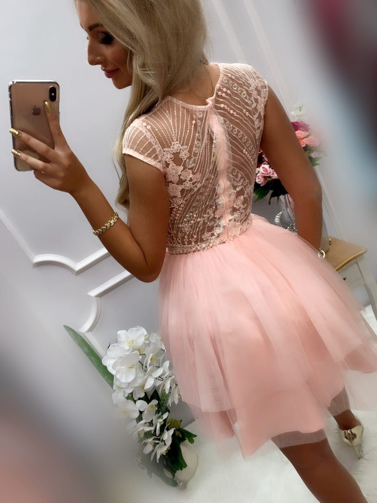 Sukienka Lososiowa Koronkowa Izaura Tiul Bombka Sukienki W Mohho Pl Dresses Flower Girl Dresses Tulle Skirt