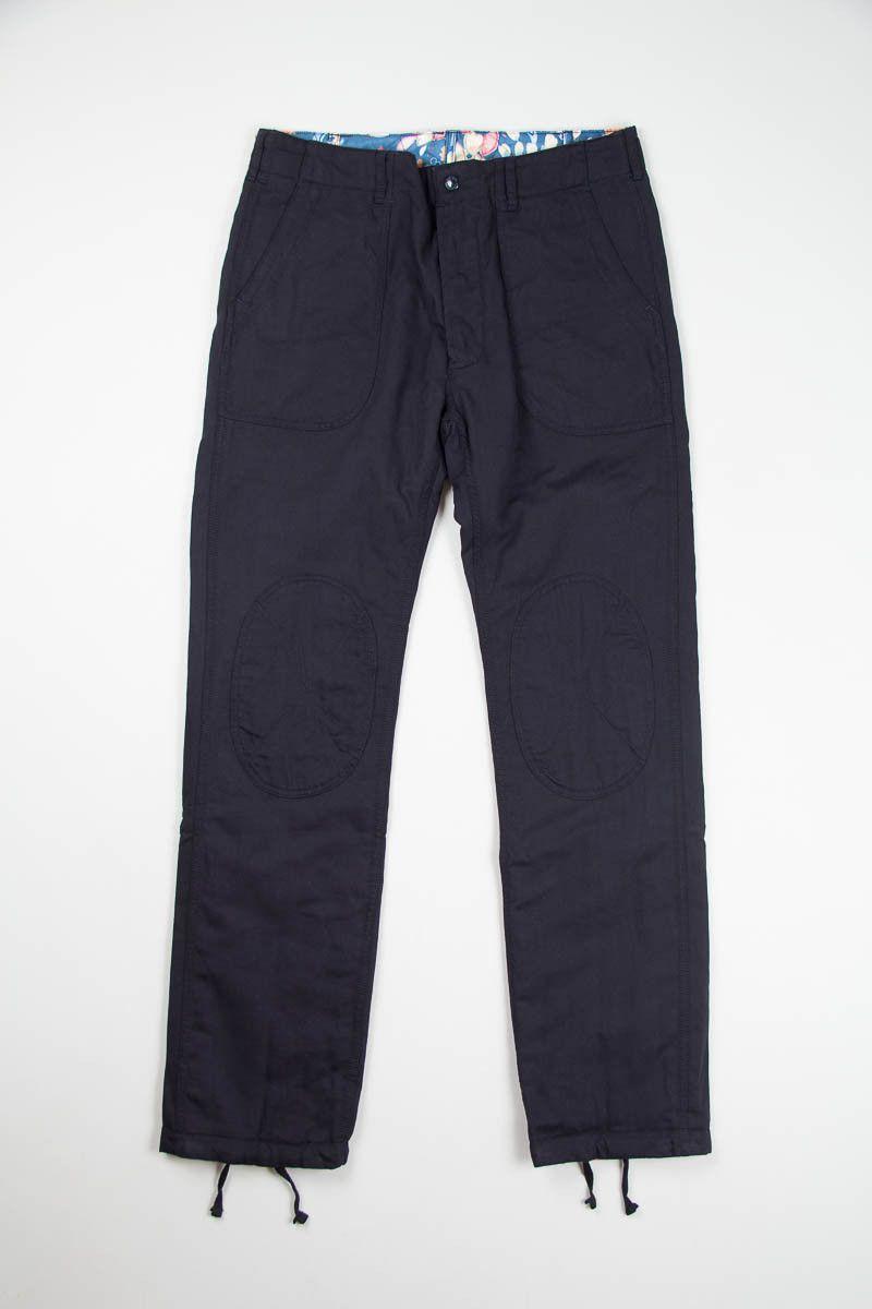 Dark Navy Cotton/Wool Sateen Reversed Pant   Engineered Garments