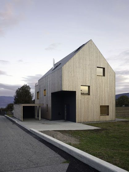 Moderner holzbau satteldach  c3a33e6abcc9d2662e158f6ce42445ee.jpg (418×559) | Arquitectura ...