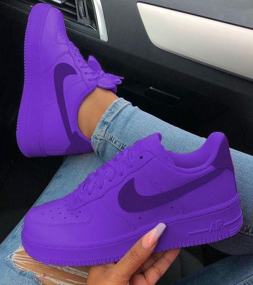 Matte Purple Haze Airforces ( GS & Men ) | Nike air shoes
