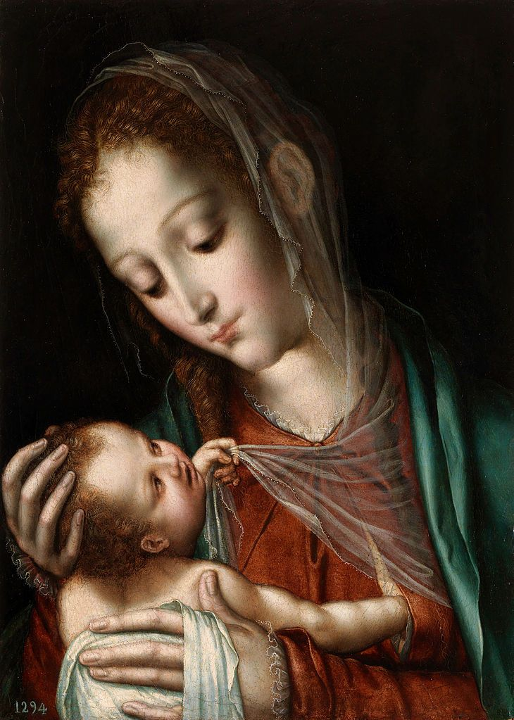 Luis de Morales (1512-1586)  — Madonna and Child  : The Prado Museum,  Madrid, Spain (730×1023)