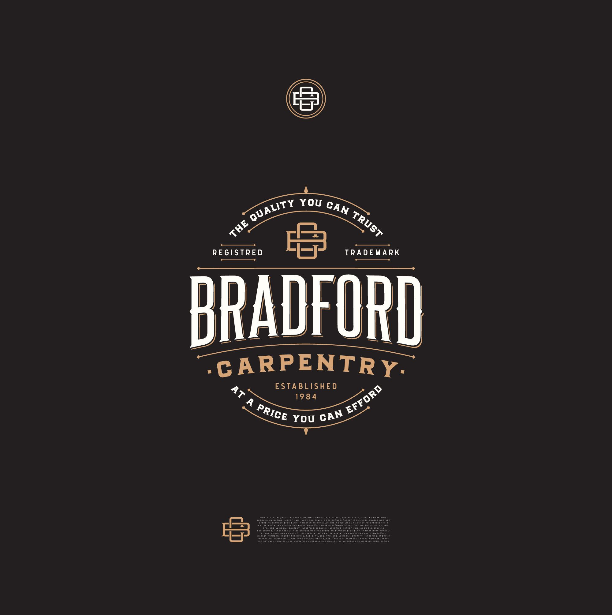 Bradford Carpentry - Logo | /LET/ | Pinterest | Carpentry, Logos and ...