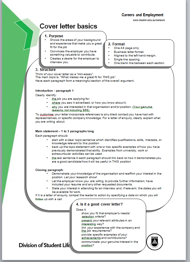 Make Sure You Cover All Of The Basics On Cover Letter Writing!