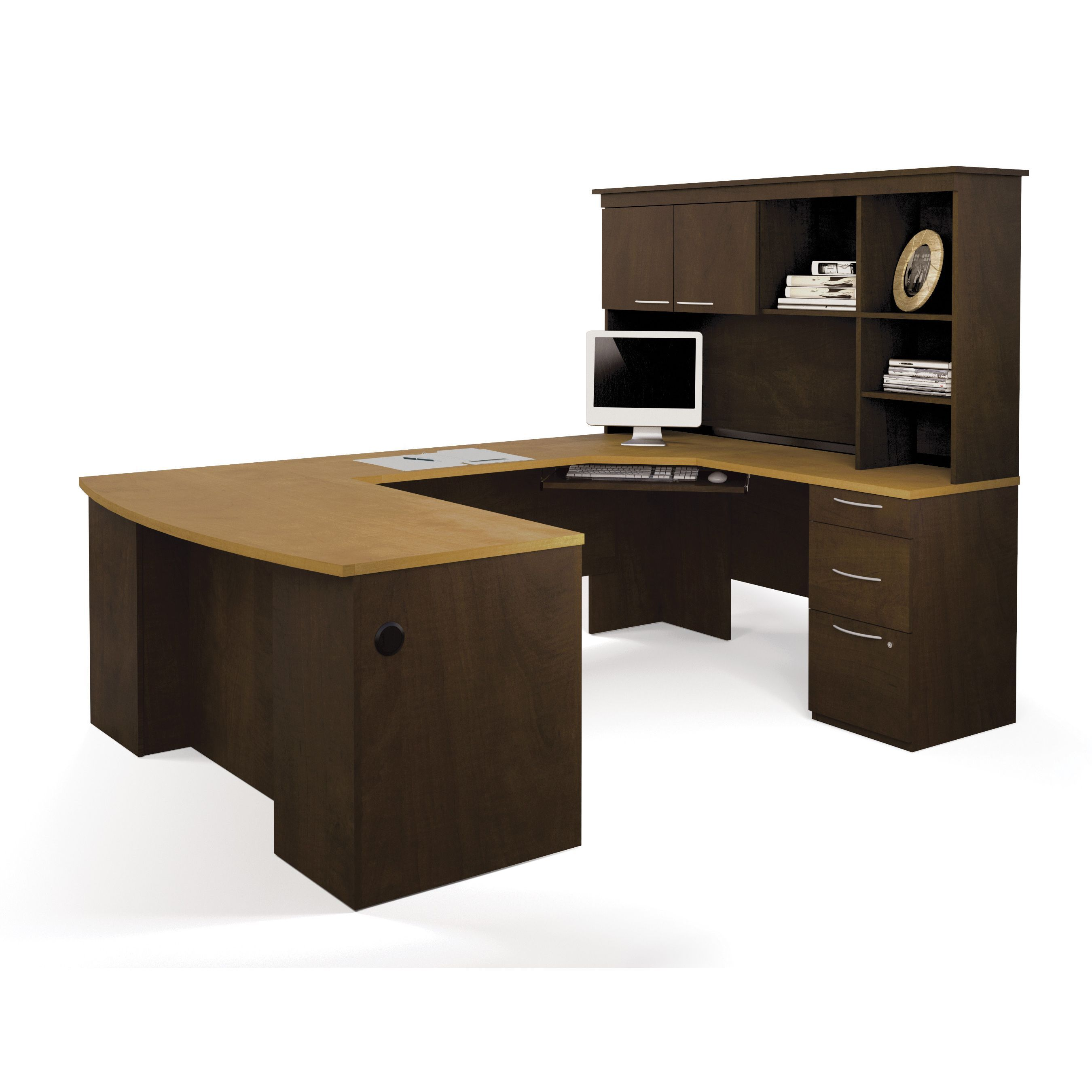 office work surfaces. The Desk Features Durable 1-inch Commercial-grade Work Surfaces With Melamine Finish That Office O