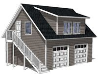 22x28 Garage Plans With Apartment Shed Design Don T Like The Stairs On Outside