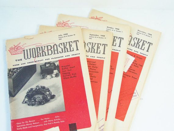 The Workbasket Magazine Vintage 1958 Home And By Witsenddesign I