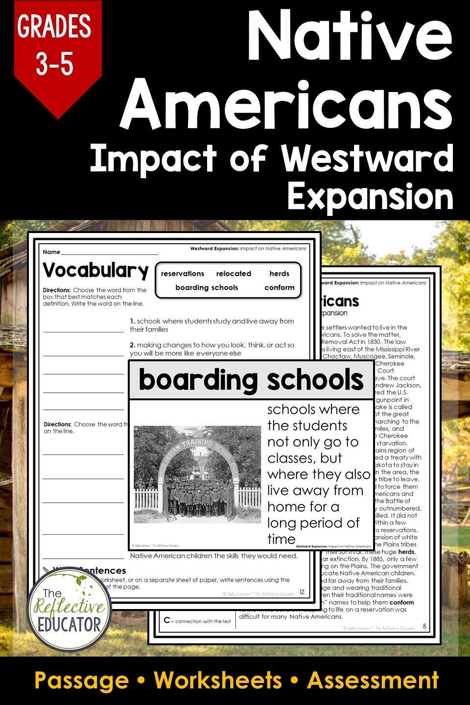 Native Americans Impact Of Westward Expansion Elementary Social Studies Lessons Social Studies Worksheets Social Studies Elementary