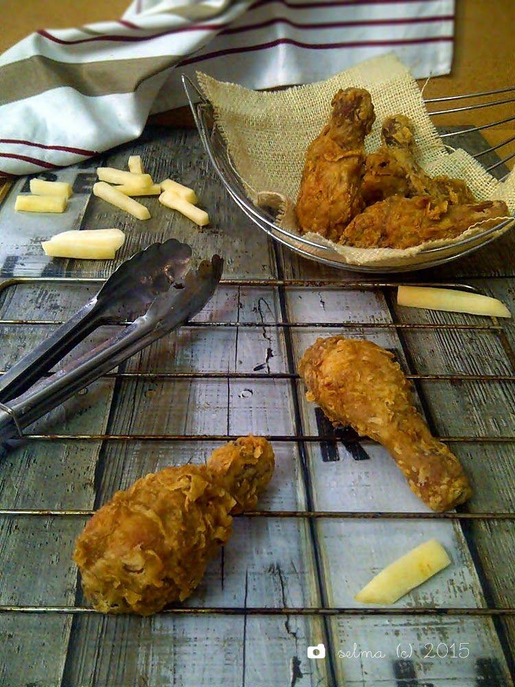 Dapur Comel Selma Ayam Goreng Tepung Krispi Ala Kfc