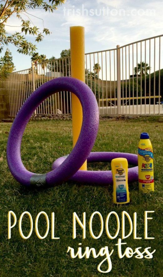 Do it yourself outdoor party games the best backyard entertainment diy pool noodle ring toss yard game via trish sutton summer has arrived enjoy solutioingenieria Image collections