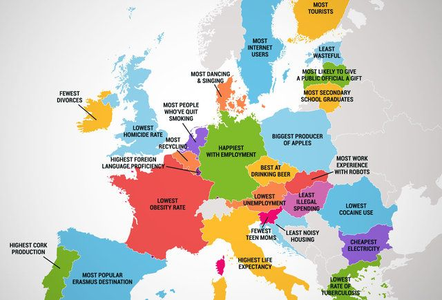 What Every Country in the European Union Is Best At Eu nations - best of world map countries picture