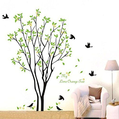 3d wall stickers ikevan 3d wall stickers green branch birds pvc