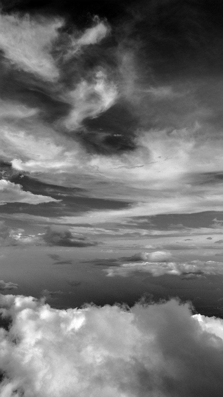 Nd34 Cloud Sky Nature Dark Bw Clouds Wallpaper Iphone Grey Wallpaper Iphone Clouds