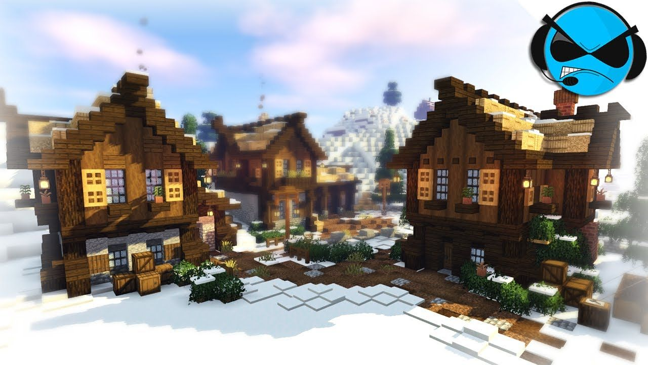 Minecraft Timelapse  Nordic Town Snow Biome #11 - YouTube in 111