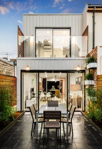 Narrow Terrace Design Terrace House Exterior Small Terrace Terrace Design