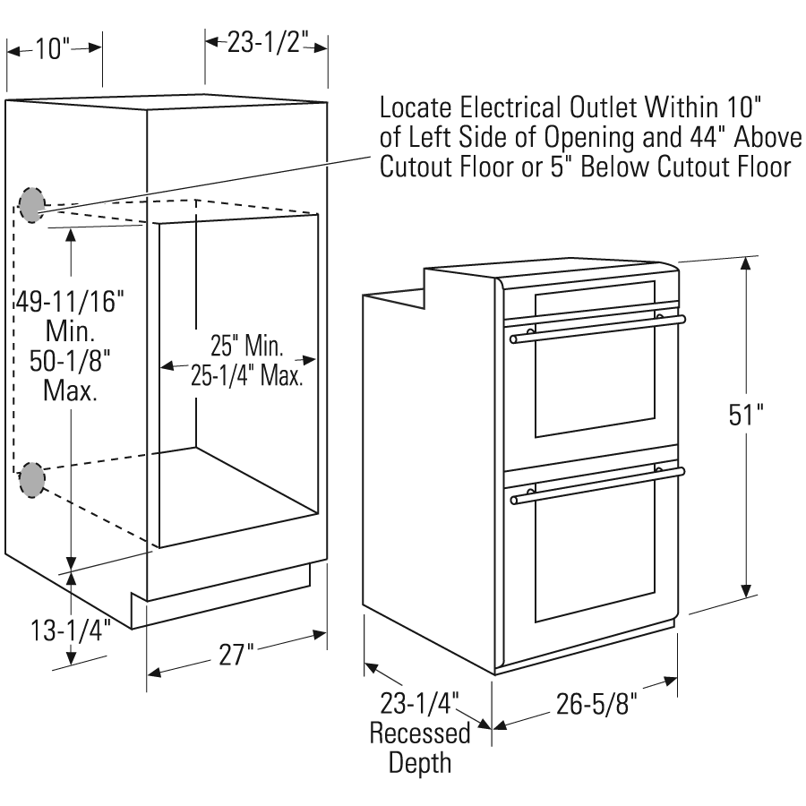 Ada compliant range dimensions google search kitchen for Wall oven cabinet size