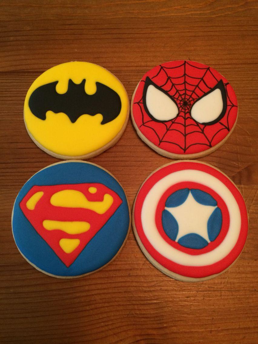 Custom super hero sugar cookies superman batman SpiderMan