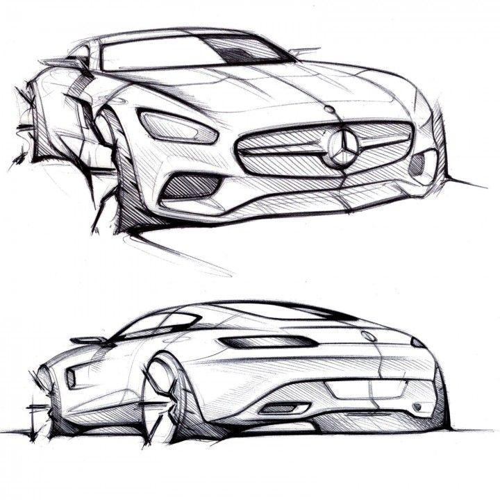 Mercedes-AMG GT - Design Sketches | SKETCHES | Pinterest | Zeichnungen