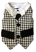 Kalo Dog Tux Vest with White Tie by Ruff Ruff Couture