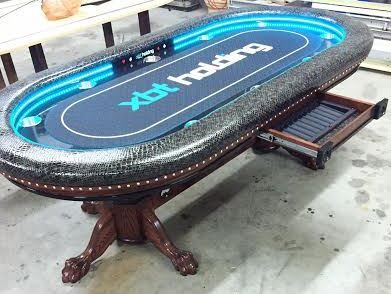 Sensational Dallas Cowboys Custom Poker Table With Focused Led Lights Beutiful Home Inspiration Xortanetmahrainfo
