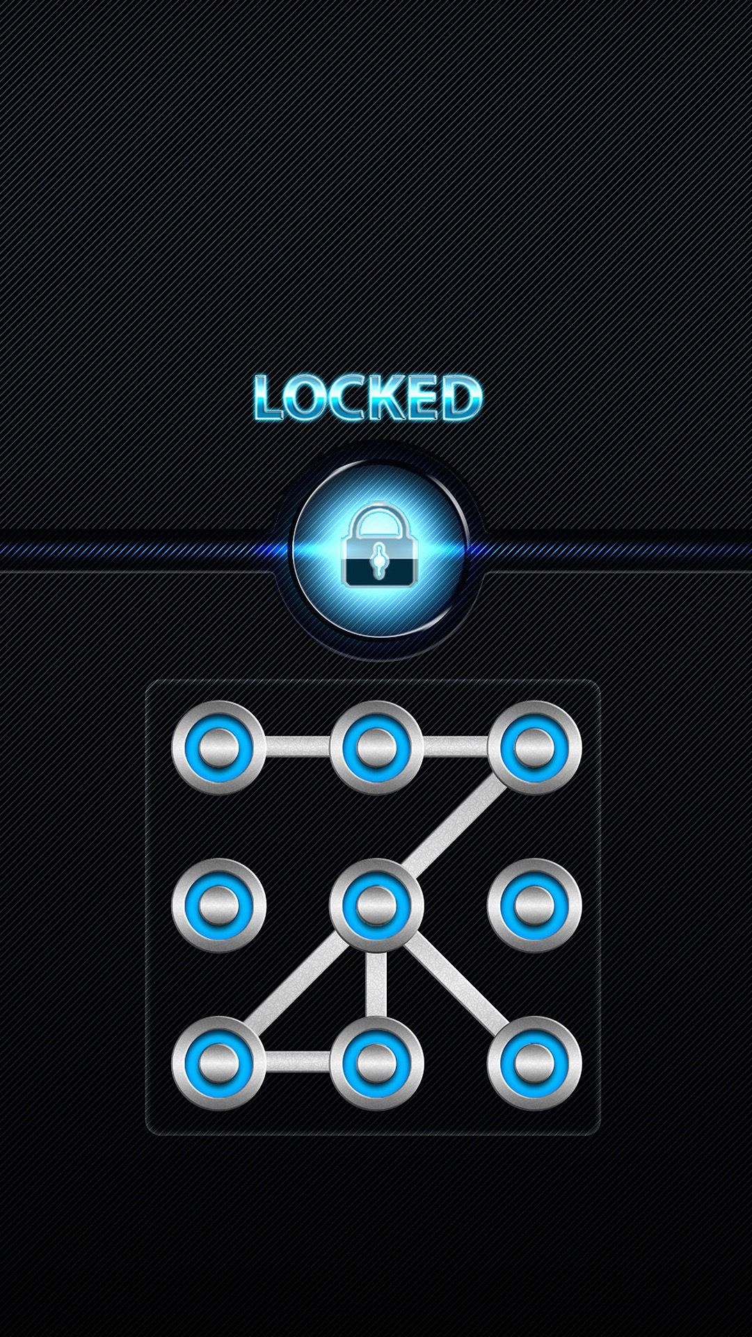 Tap And Get The Free App Lockscreens Locked Black Blue Dot