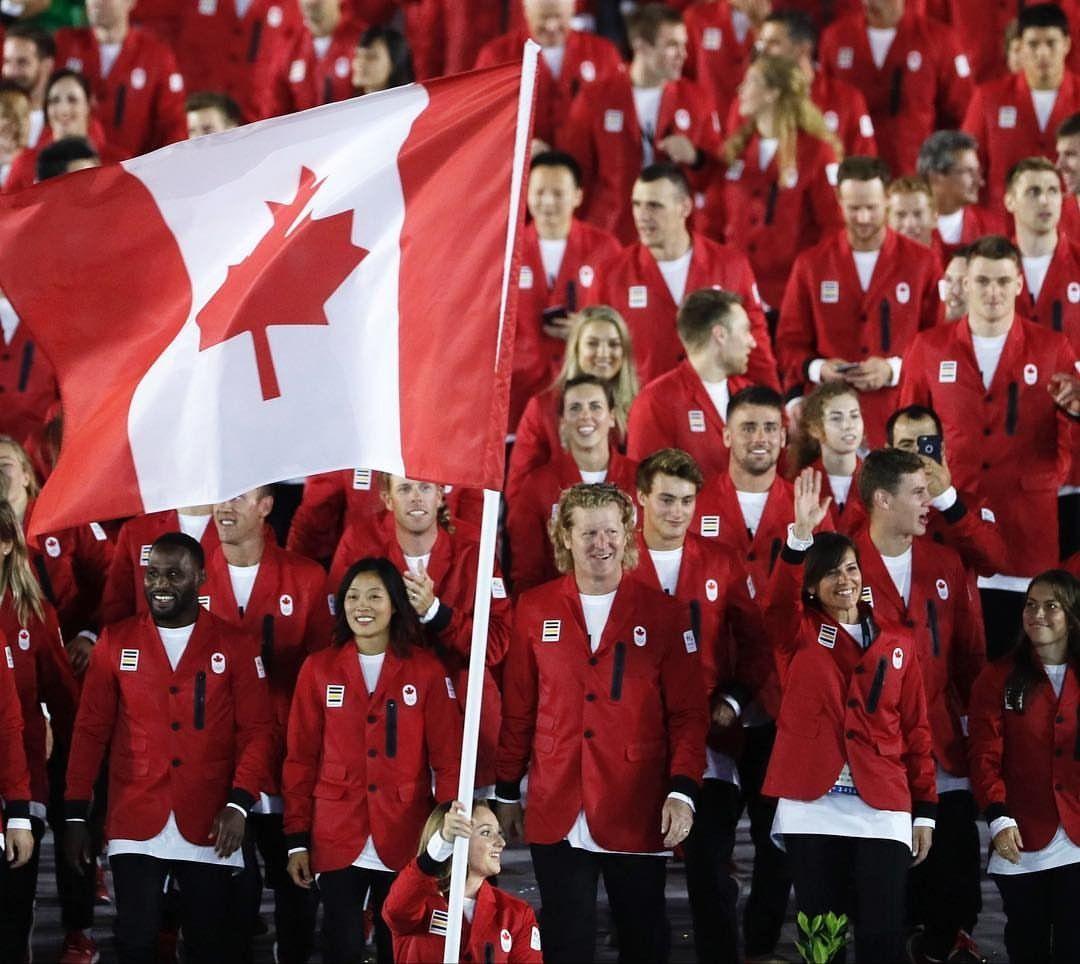 Great looking bunch!  Rosie MacLennan leads @TeamCanada