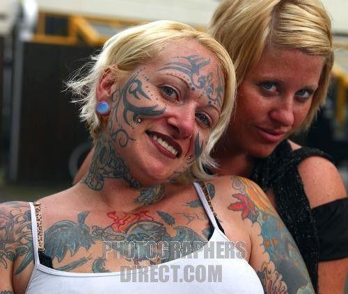 Women Face Tattoo