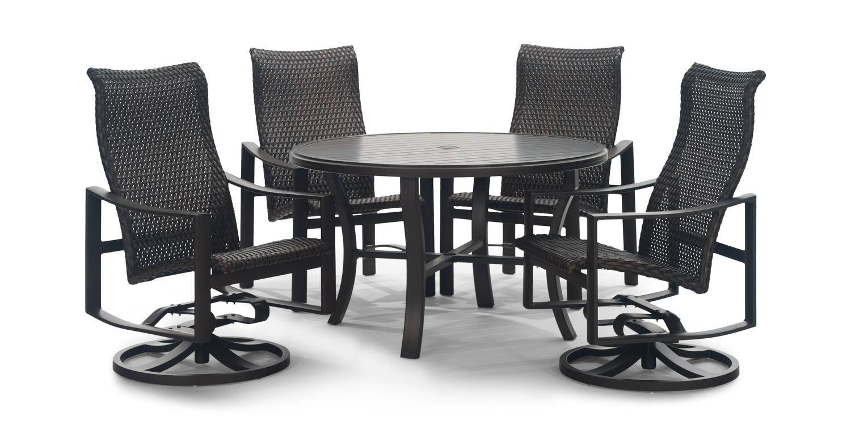 kenzo 5 piece woven patio dining set