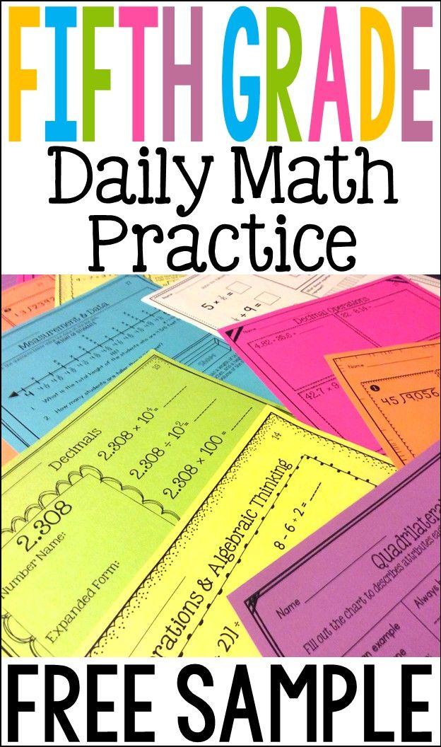 Fifth Grade Math Review: 7 FREE Worksheets | Grades 3-6 ...