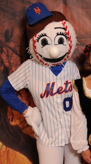 Homemade Mr Met   Mrs Met costume Made from party city baseball piñata  (large) eca1778d8fb