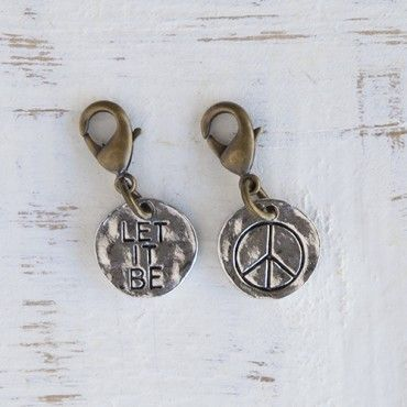 Junk Market Copper & Silver Word Charms