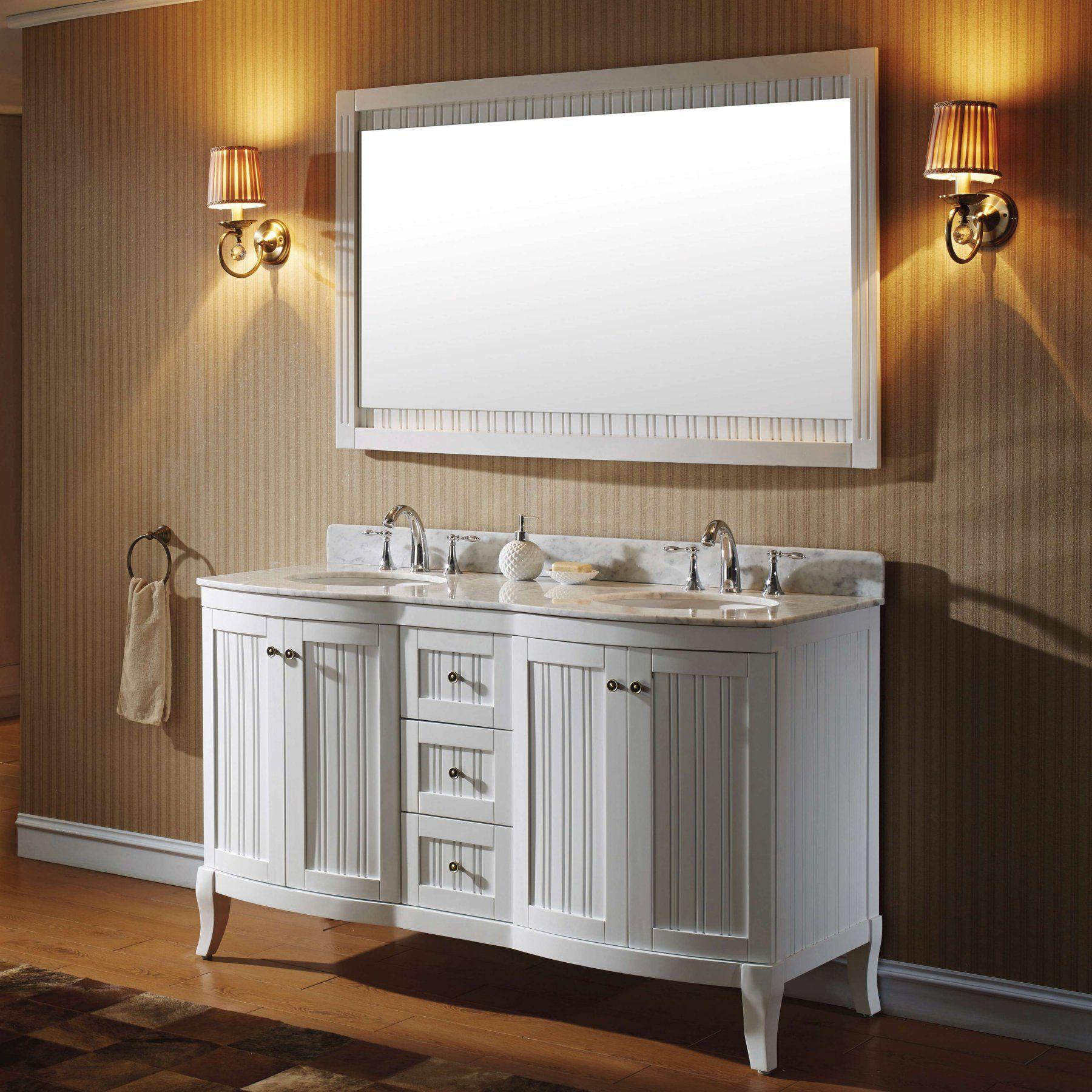 Virtu Khaleesi Ed 52060 Wmro 60 In Double Bathroom Vanity Cab Es