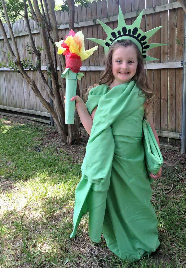 statue of liberty 50 creative homemade halloween costume ideas for kids httphativecomcreative homemade halloween costume ideas for kids