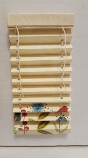 thealliancetrader design blog: DIY Dollhouse Miniature Tutorial for Paper Mini Blind #dollhousefurniture