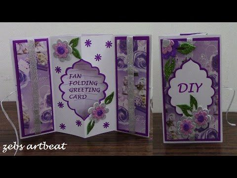 Diy fan folding 3d greeting card youtube so talented pinterest diy fan folding 3d greeting card youtube m4hsunfo