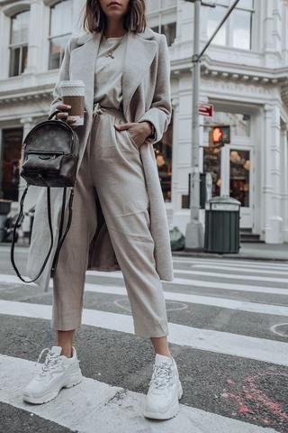 Stilvolle reine Farbe Langarm-Mantel   – Inspiration du siècle