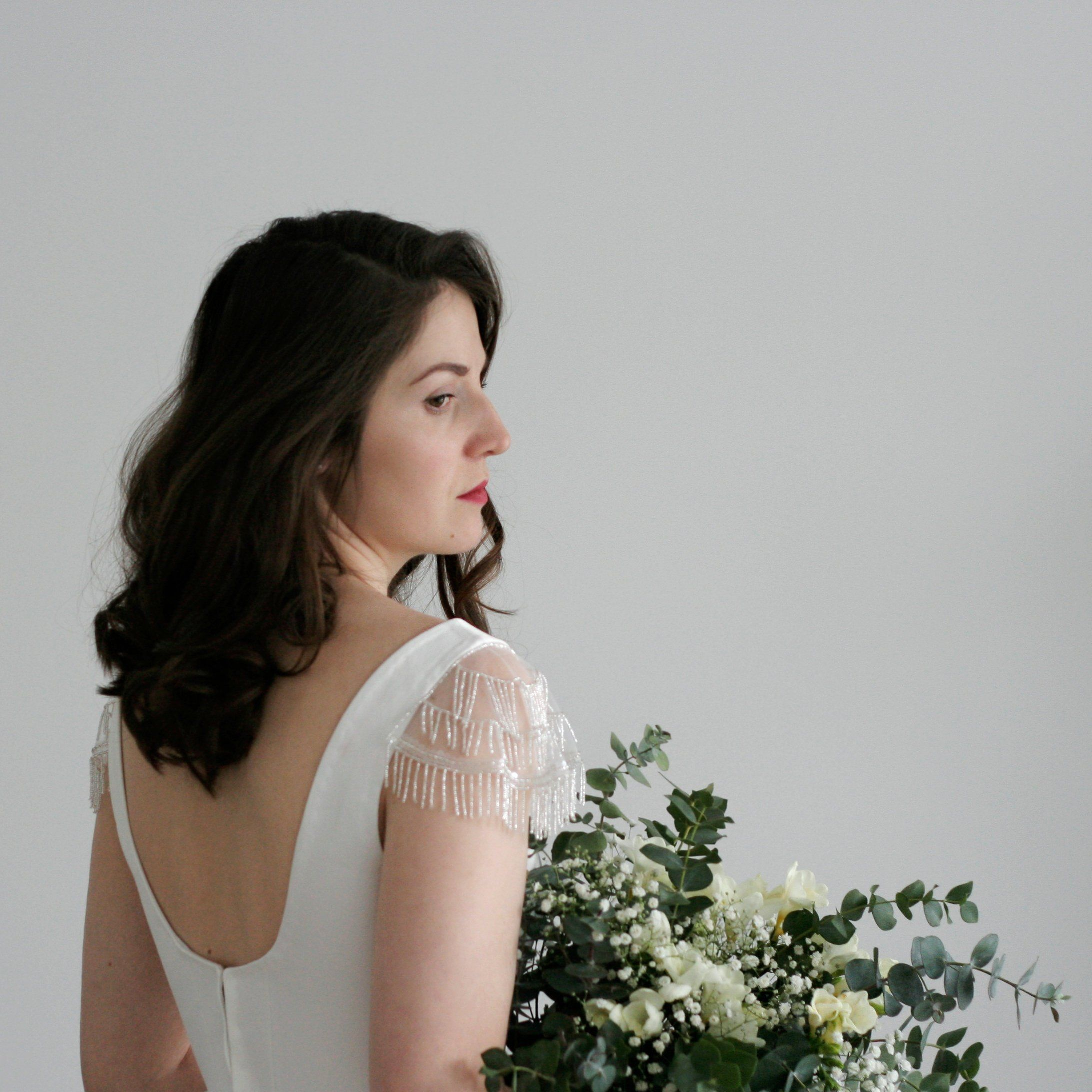 Detachable sleeves for wedding dress Cap sleeves Bridal