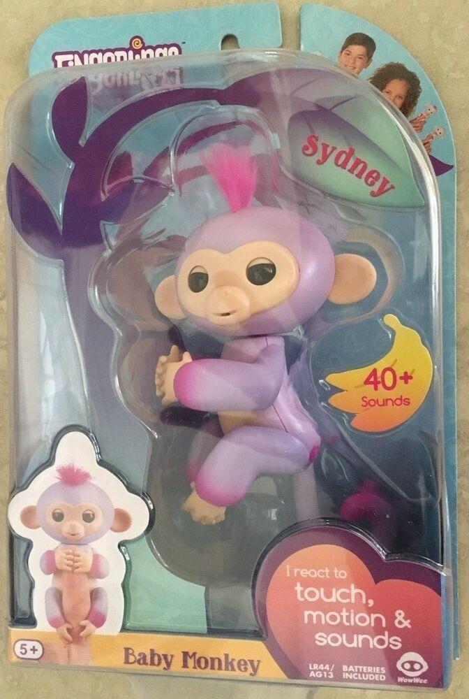 WowWee AUTHENTIC Fingerlings 2Tone Monkey Sydney Purple