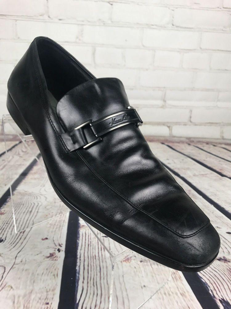 Kenneth Cole NY Take Me Home Men US 11.5 Black Apron Loafer  #KennethColeNY #LoafersSlipOns