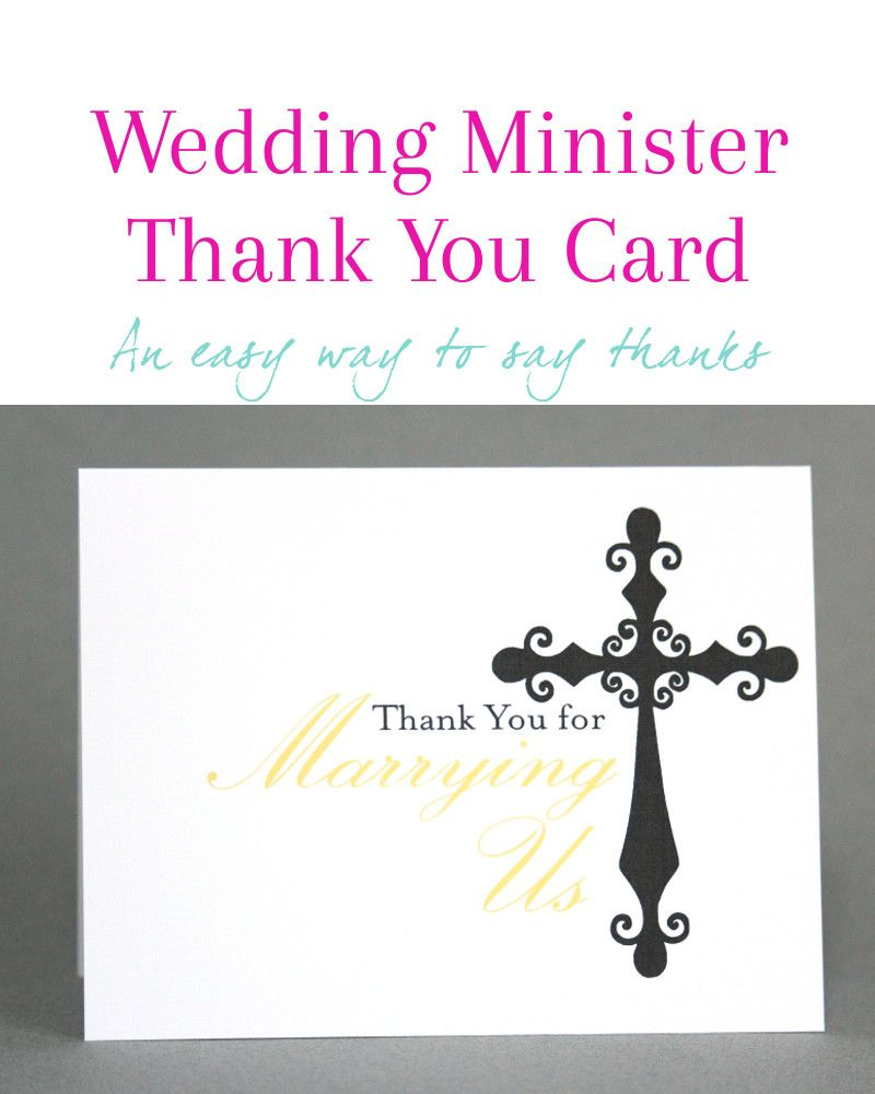 Thank You Card For Officiant Thank You For Marrying Us Card