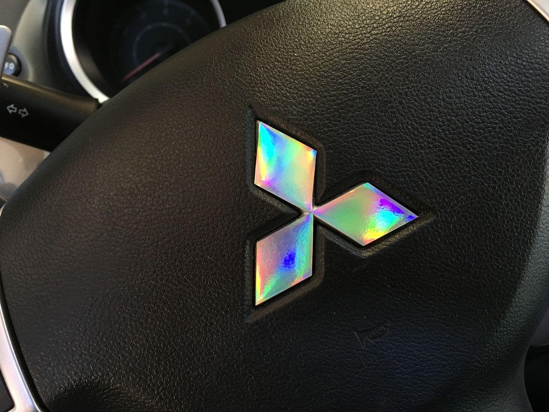 Mitsubishi logo laser spectrum decal set car customs