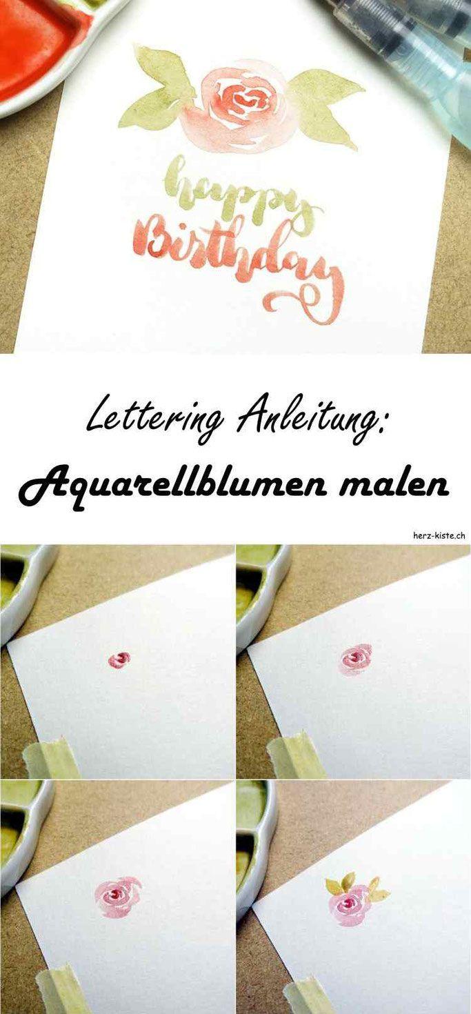 Letter Lovers: buntgepinselt zu Gast #wasserfarbenkunst