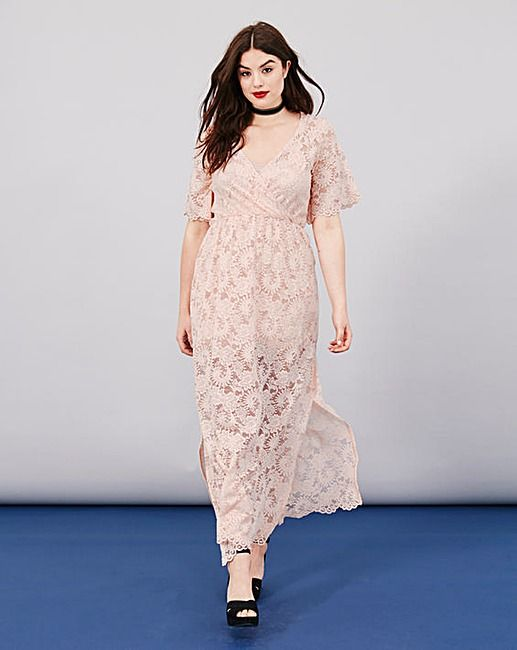 Simply Be Lace Wrap Maxi Dress | Simply Be | clothes | Pinterest ...