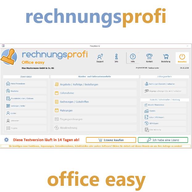 Rechnungsprofi Office Easy Buchhaltung Software Rechnung