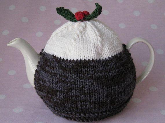 Christmas Pudding Tea Cosy Knitting Pattern On Etsy 250 Wanna