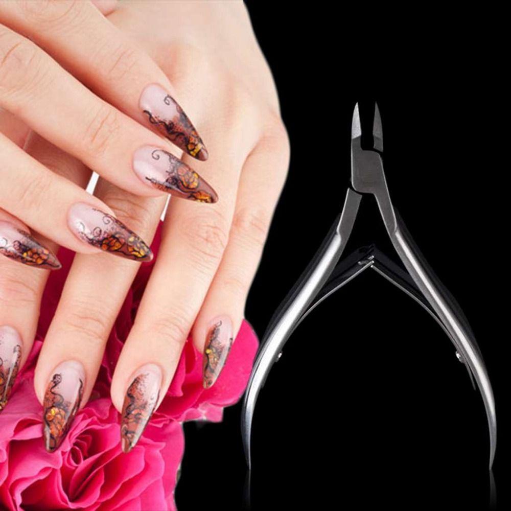 1pcs NEW Stainless Steel Cuticle Scissor Toe Cuticle Nipper Trimmer ...