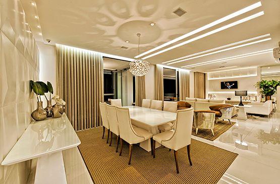 Sala De Jantar Branca De Luxo ~ estilo e muita elegância salas de jantar sala jantar lustre pendente